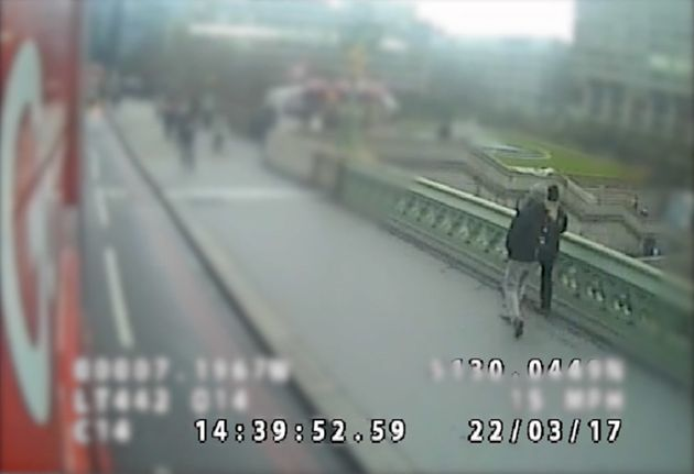 CCTV showing Westminster Bridge attack victims Kurt Cochran and wife Melissa seconds before Khalid Masood...