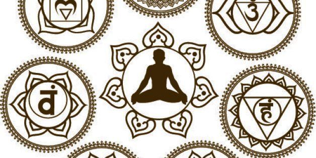 Mehendi style Seven Chakra  with meditating lotus position, all different layer and very easy to edit.