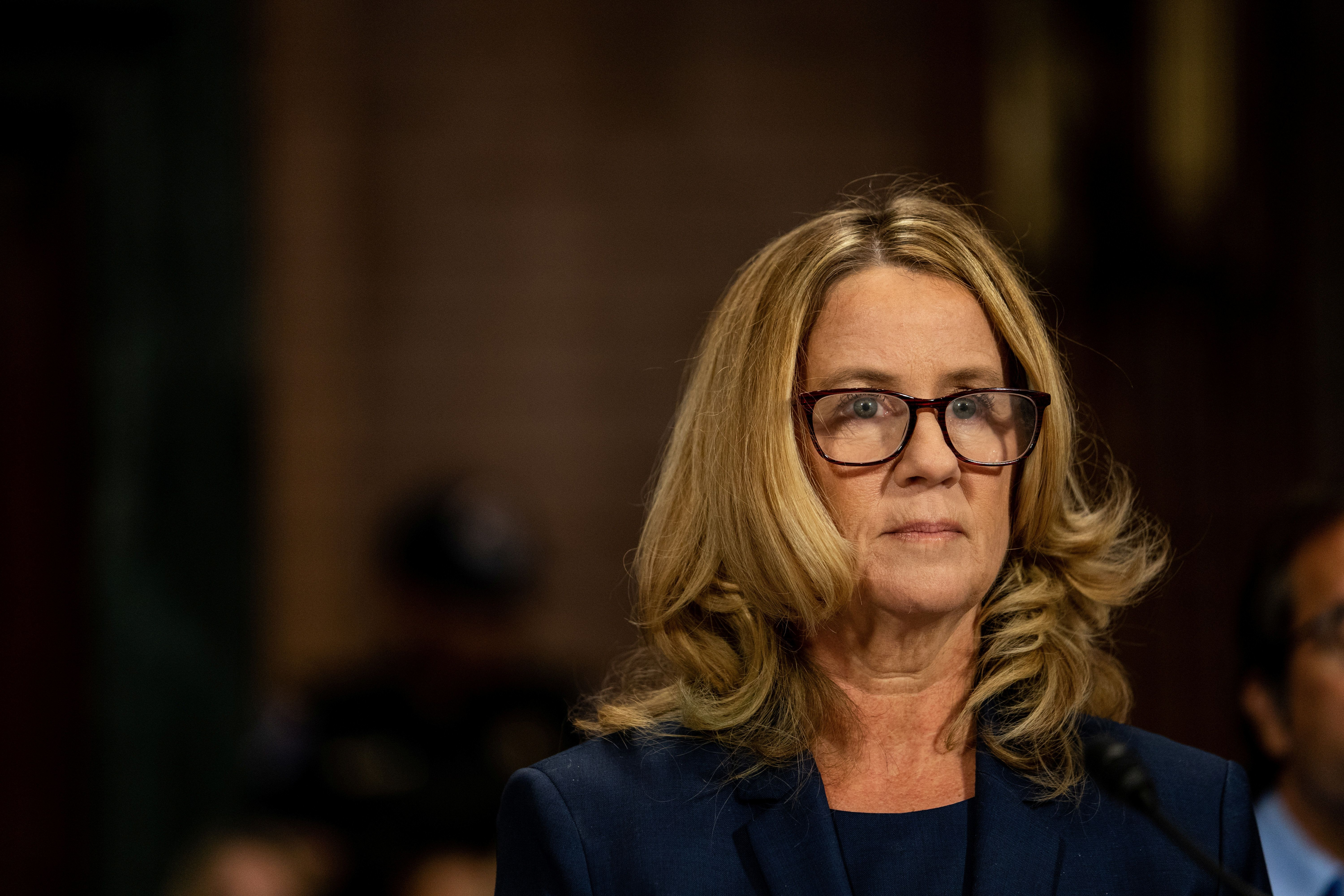 Christine Blasey Ford attends a hearing before the Senate Judiciary Committee about sexual assault allegations against Supreme Court nominee Judge Brett M. Kavanaugh on Capitol Hill in Washington, U.S., September 27, 2018. Erin Schaff/Pool via REUTERS