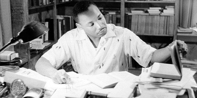 MONTGOMERY, AL - MAY 1956: Civil rights leader Reverend Martin Luther King, Jr. relaxes at home in May 1956 in Montgomery, Al
