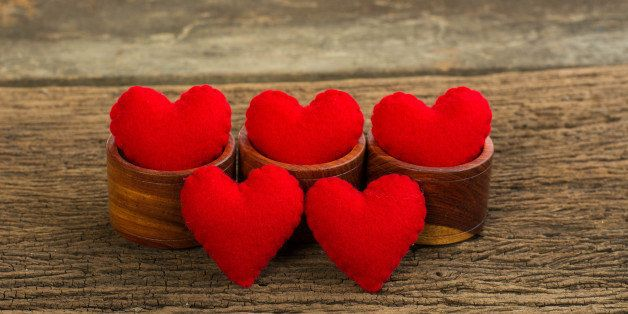 valentine heart and love wooden ...
