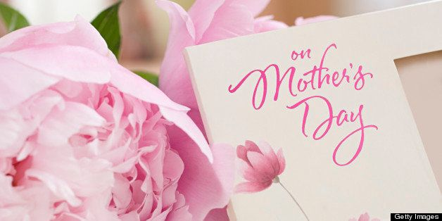 Flowers and mothers day card