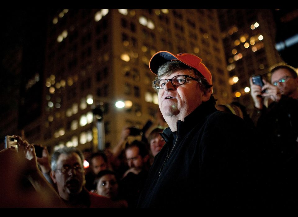 When Michael Moore showed up at the Occupy Wall Street protests to show his solidarity, whichever media outlets hadn't been c