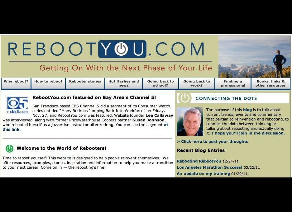 """A blog dedicated to reinvention or """"rebooting"""" (ending one career and pursuing a new one), <a href=""""http://rebootyou.com/"""" ta"""