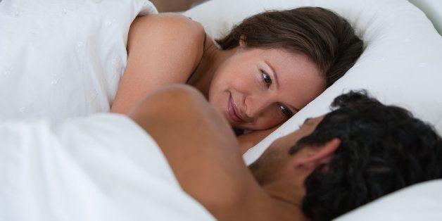 Richard & Kirstin sleeping in bed 0061