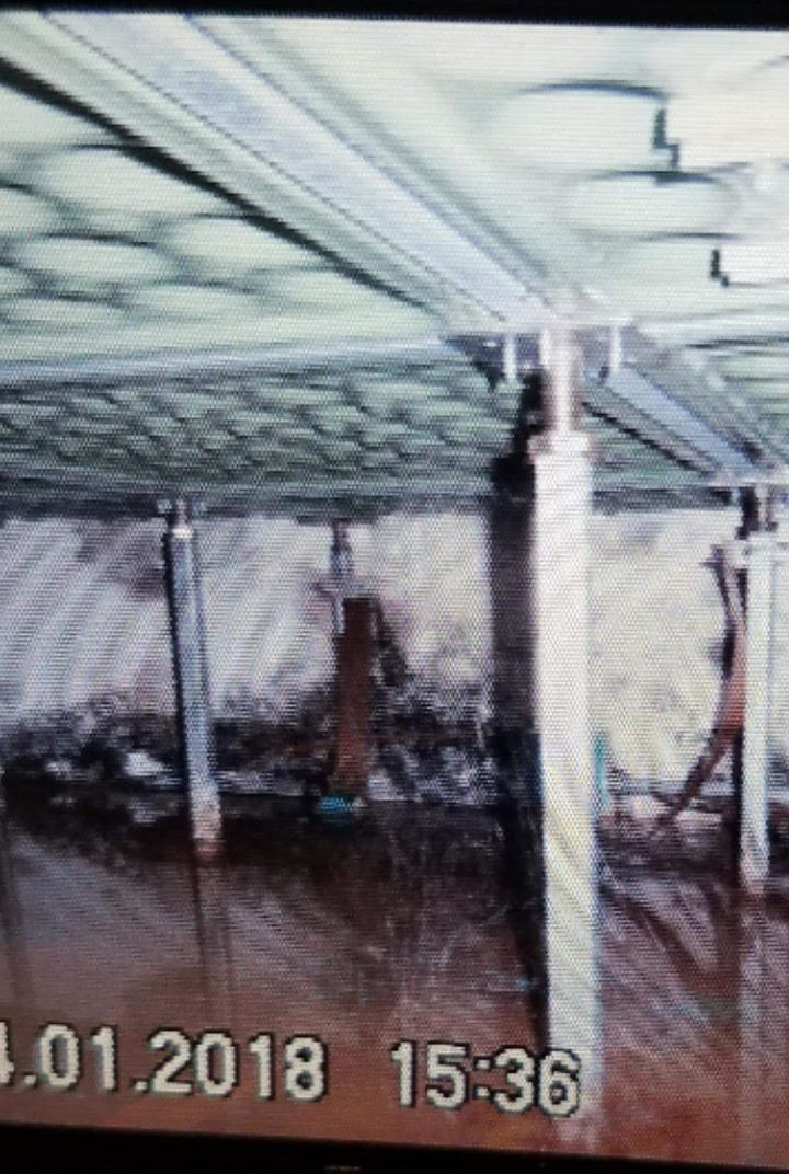 A photo of the flooding under the prison's control room, taken on April 1 by Correctional Officer Josh Brown.