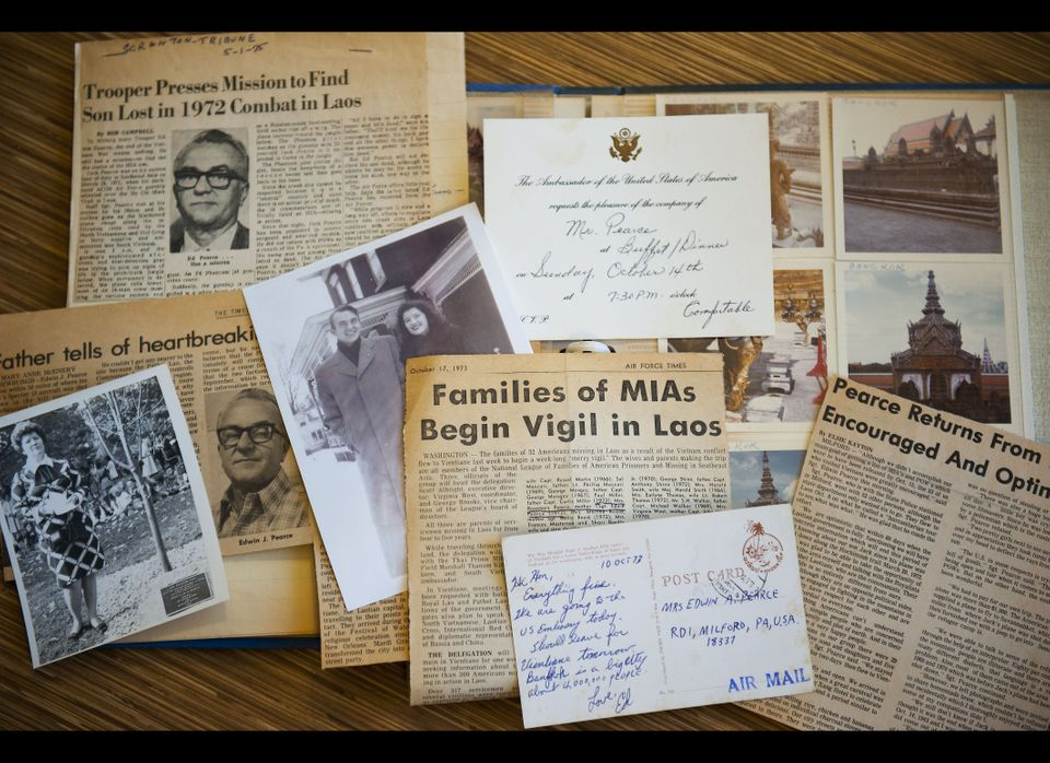 My grandmother kept meticulous scrapbooks of clippings, photos and letters chronicling her and her husband's search for their