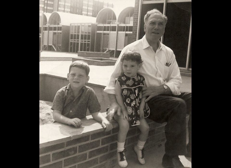 Melissa and brother and grandfather Isaac.