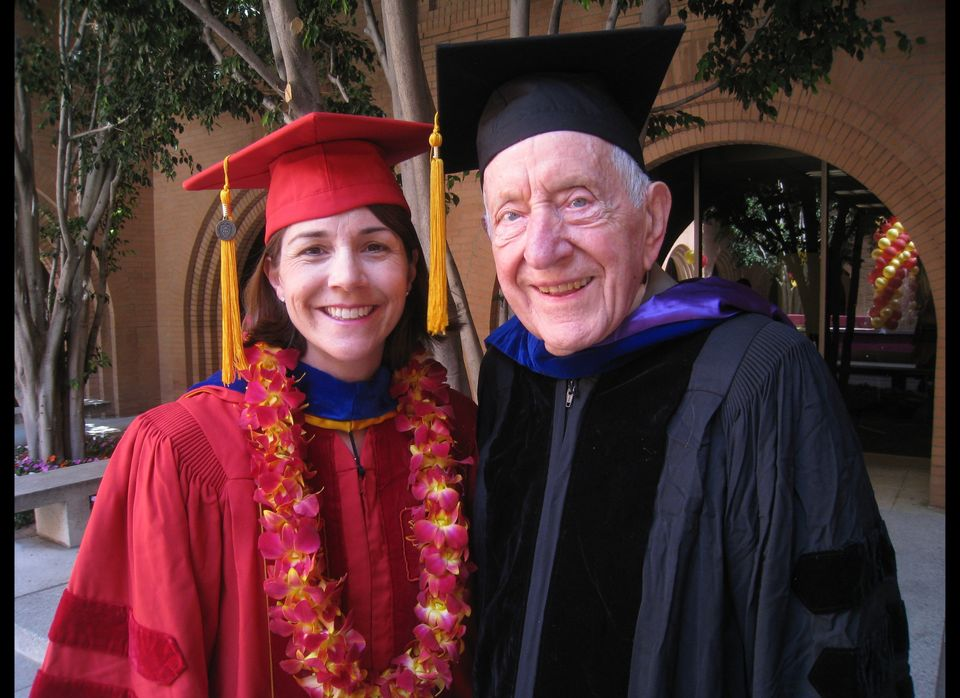 Here I am with Dr. Birren, the Grandfather of Gerontology, when I received my PhD at USC.  It's like getting a degree in Psyc