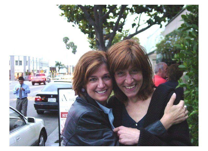 Robin Smalley with best friend Karen Besser. Karen died unexpectedly on Valentines Day, 2004. She was 48.