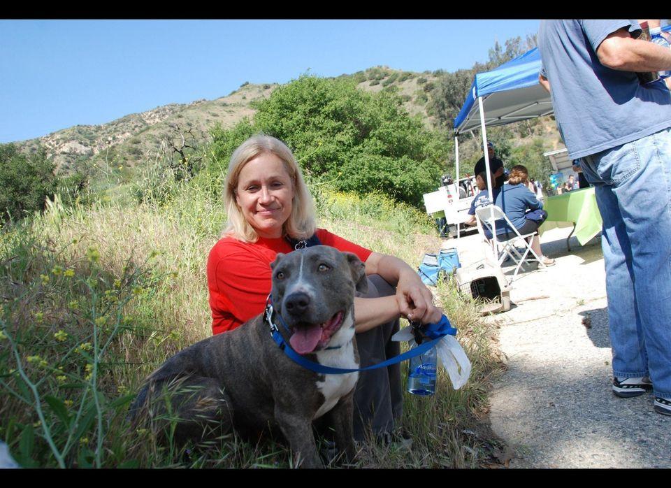 Sandy Zalagens with Big Louie.