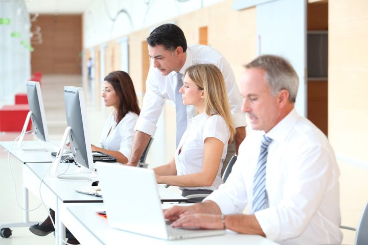 Business training in modern offices