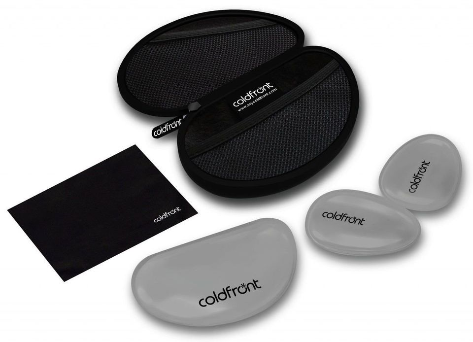 Coldfront are cooling palm packs that come in their own ergonomically designed carrying case. With a package including a re-c