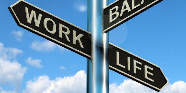 work life balance signpost...