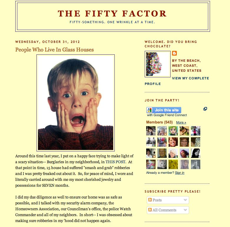 "<a href=""http://www.thefiftyfactor.com/"">The Fifty Factor</a> was launched by a very funny West Coast woman who introduces he"