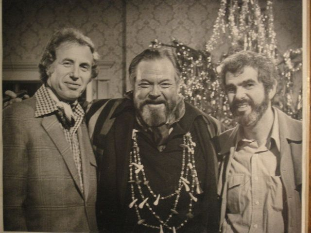 This photo features Bill Persky on the right, Orson Welles in the middle and Persky's long-time collaborator Sam Denoff on th