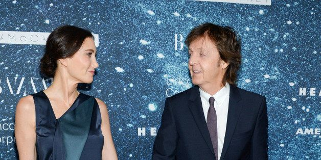 "Sir Paul McCartney and wife Nancy Shevell arrive at ""An Evening Honoring Stella McCartney"" presented by American Express, ben"
