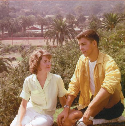This photo of the young couple was taken in Catalina, California.