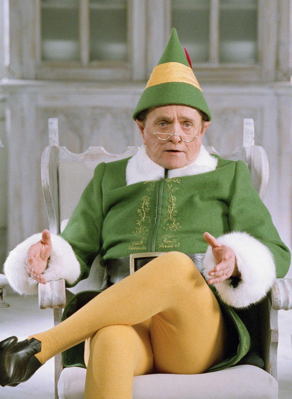 "Bob Newhart in his role as Papa Elf in the 2003 Will Ferrell film, ""<a href=""http://www.imdb.com/title/tt0319343/"">Elf</a>."""