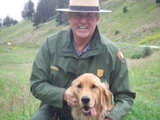 John Kerr, 74, became a park ranger at Yellowstone National Park after retiring from his job in television eight years ago.