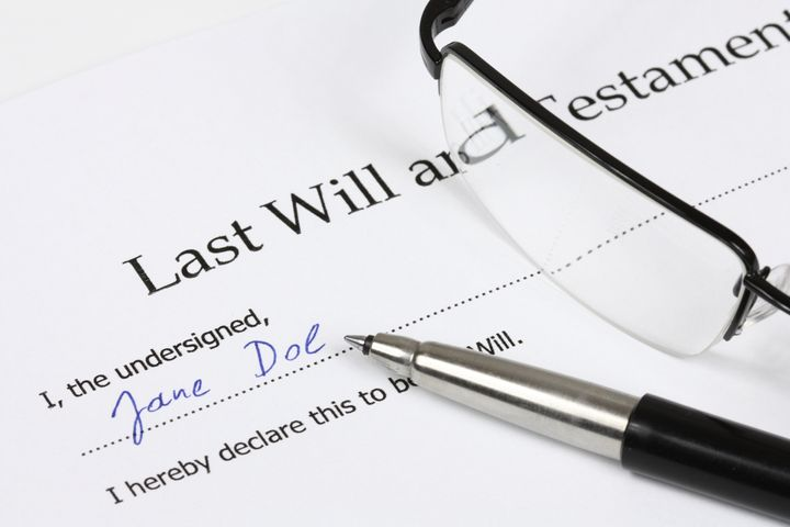 last will and testament with a...