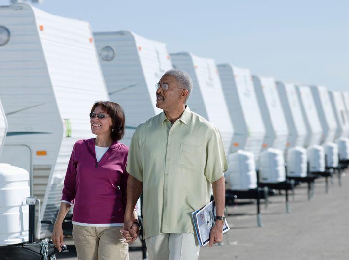 Senior Couple Buying a Recreational Vehicle