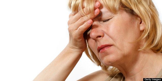Woman with headache pain