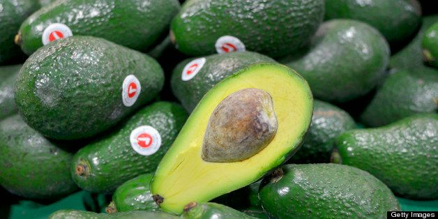 Avocadoes at market