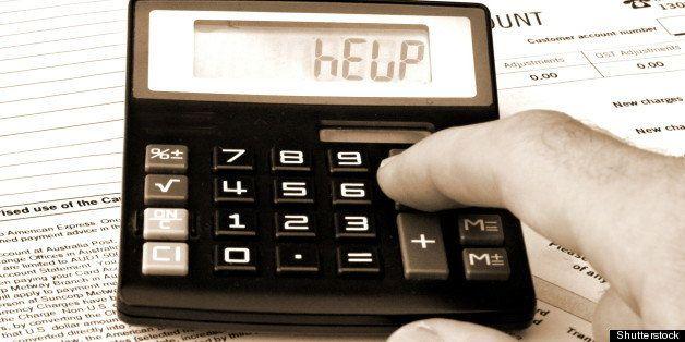 calculator and bills   help