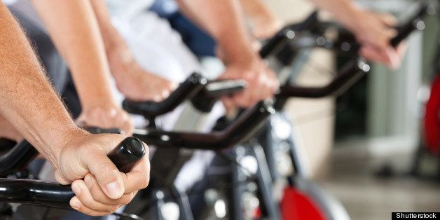 many hands on bikes in fitness...