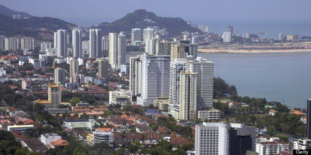 Georgetown Skyline from The Komtar Tower, Penang, Malaysia