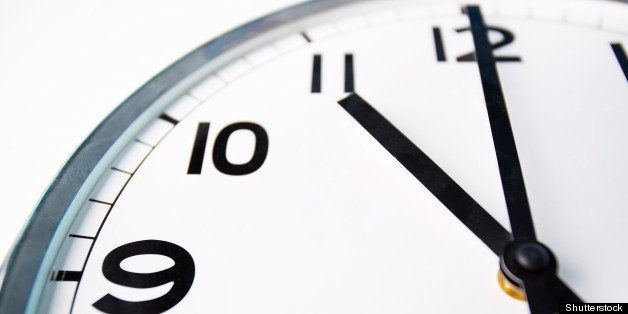 macro shot of a clock face...