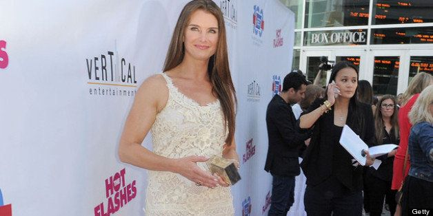 HOLLYWOOD, CA - JUNE 27:  Actress Brooke Shields arrives at the premiere of 'The Hot Flashes' at ArcLight Cinemas on June 27,
