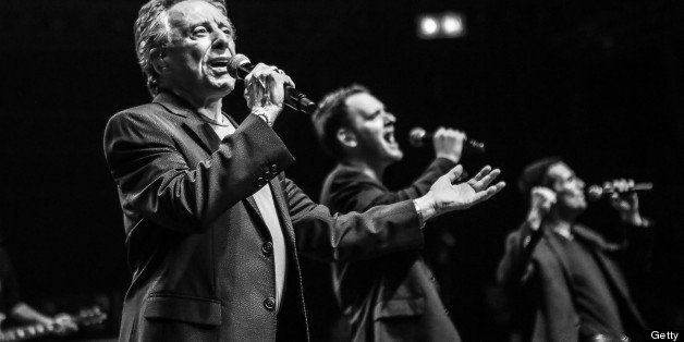 (EXCLUSIVE ALL ACCESS) LONDON, UNITED KINGDOM - JUNE 25: Frankie Valli & The Four Seasons perform on stage at the Royal Alber