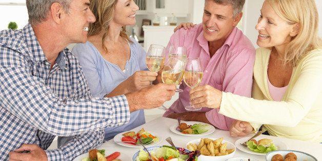 mid age couples enjoying