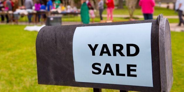 yard sale in an american...