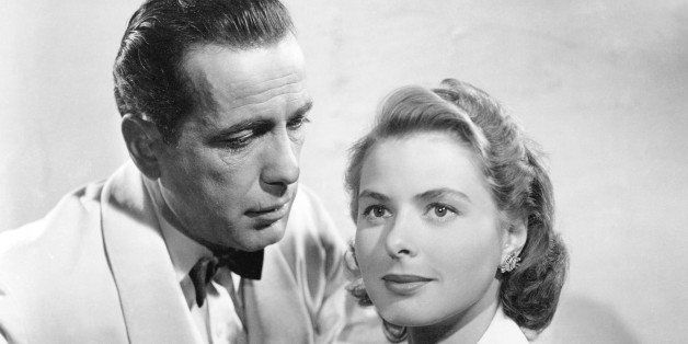 Swedish actress Ingrid Bergman (1915 - 1982) and American actor Humphrey Bogart (1899 - 1957) in a promotional portrait for '