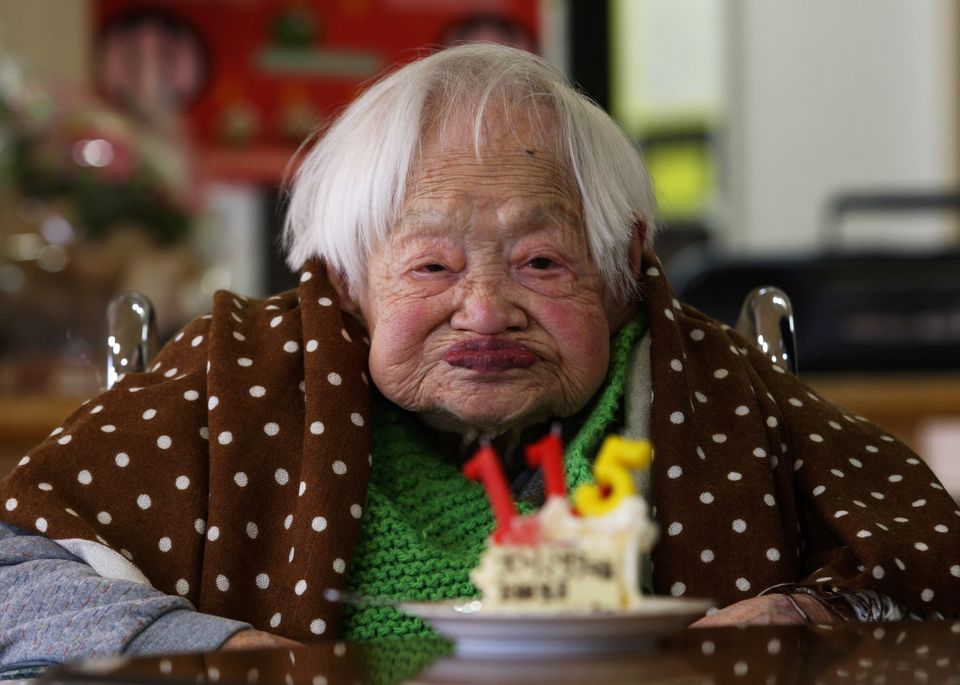Misao celebrating her 115th birthday on March 5 2013