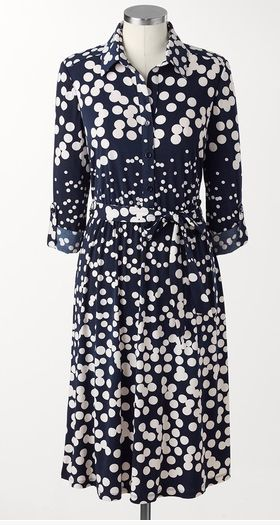 Patterns are excellent at tricking the eye. Larger sized polka dots (ahem, another spring trend) are designed to draw the eye