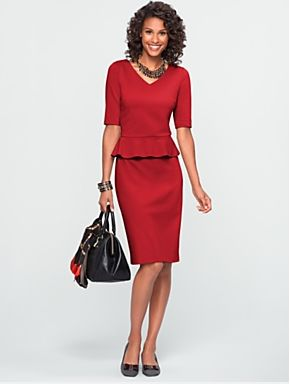 When shopping for the right day-to-night dress this spring, keep your eyes peeled for peplum. Peplum, a pretty and feminine d