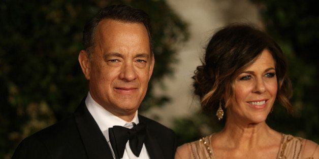 LONDON, ENGLAND - FEBRUARY 16:  Tom Hanks and Rita Wilson attend an official dinner party after the EE British Academy Film A