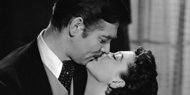 Clark Gable (1901 - 1960) and Vivien Leigh (1913 - 1967) star in the MGM romantic drama 'Gone with the Wind', 1939. (Photo by