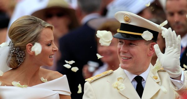 """In a real-life fairytale wedding, the then 53-year-old Monegasque royal married longtime girlfriend <a href=""""https://www.huff"""