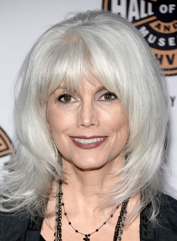 Like Steve Martin and Vanessa Redgrave, country icon Harris is known as much for her trademark white-gray hair as her copious