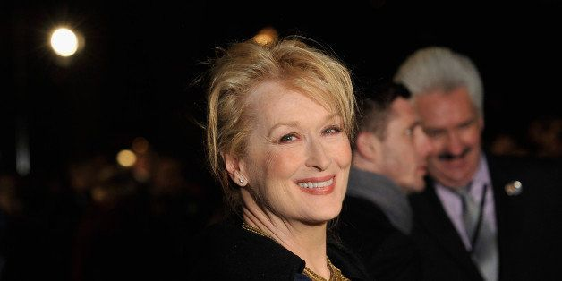 LONDON, ENGLAND - JANUARY 04:  Actress Meryl Streep attends the European Premiere of The Iron Lady at BFI Southbank on Januar