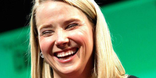 NEW YORK, NY - MAY 07:  Yahoo! CEO, Marissa Mayer speaks at TechCrunch Disrupt NY 2014 - Day 3 on May 7, 2014 in New York Cit