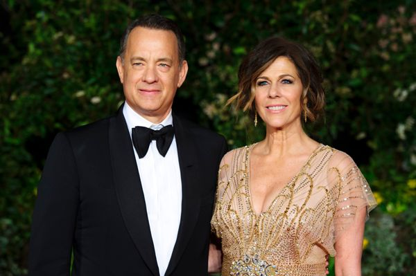 "Hanks' son Colin has two daughters, and the actor has clearly taken a shine to his new role as grandpa. ""I get to do the thin"