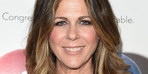 WEST HOLLYWOOD, CA - MAY 08:  Actress Rita Wilson attends the 'Fed Up' premiere held at the Pacfic Design Center on May 8, 20