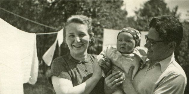 vintage photo of parents with...