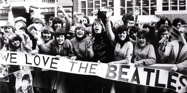 AUSTRALIA - JUNE 01:  (AUSTRALIA OUT) Photo of SCREAMING FANS and BEATLES FANS and BEATLES and 60's STYLE; screaming Beatles